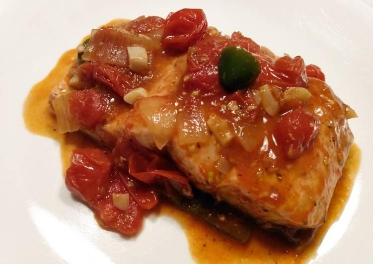 Steps to Prepare Speedy Trout in tomato chutney