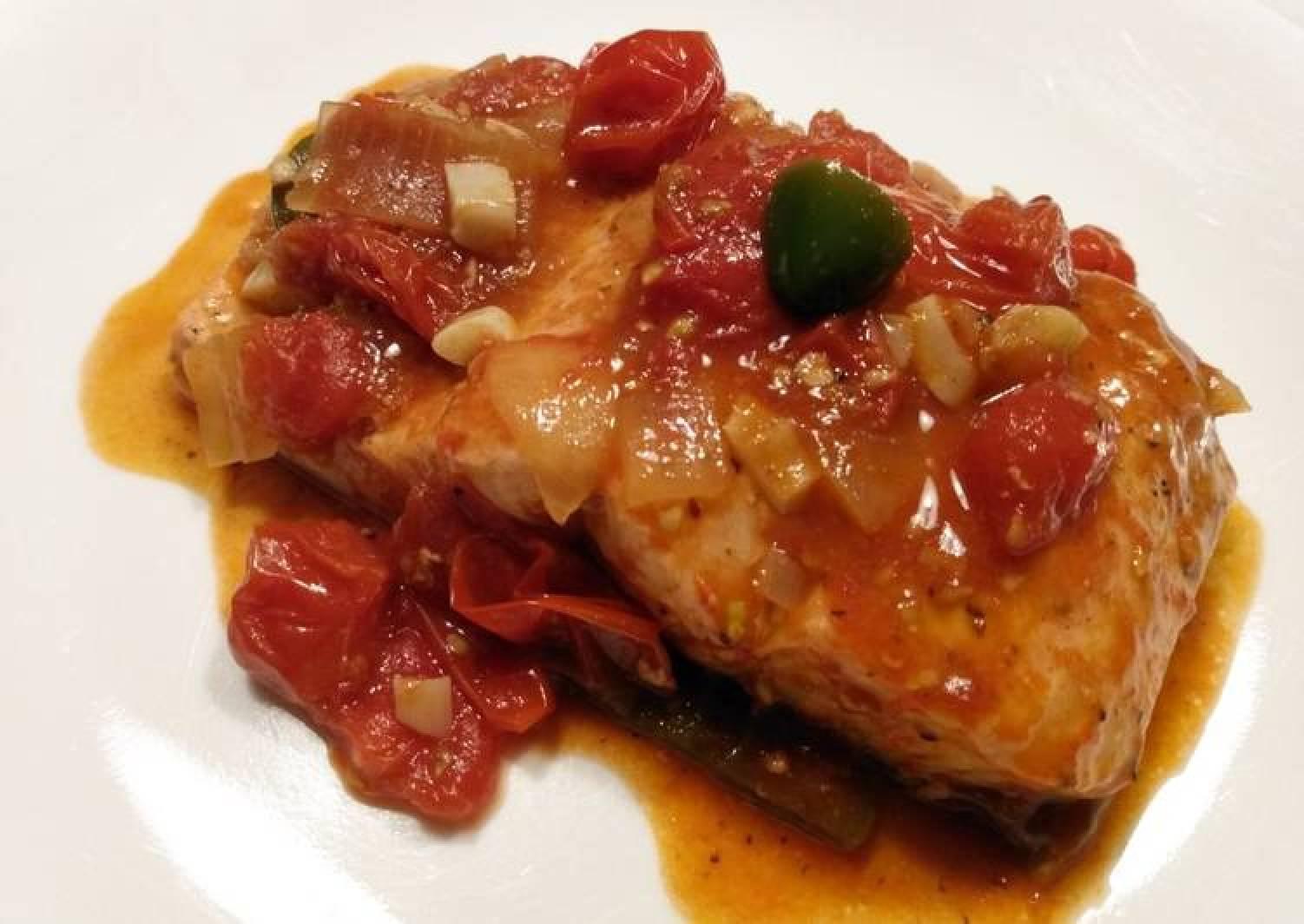 Trout in tomato chutney
