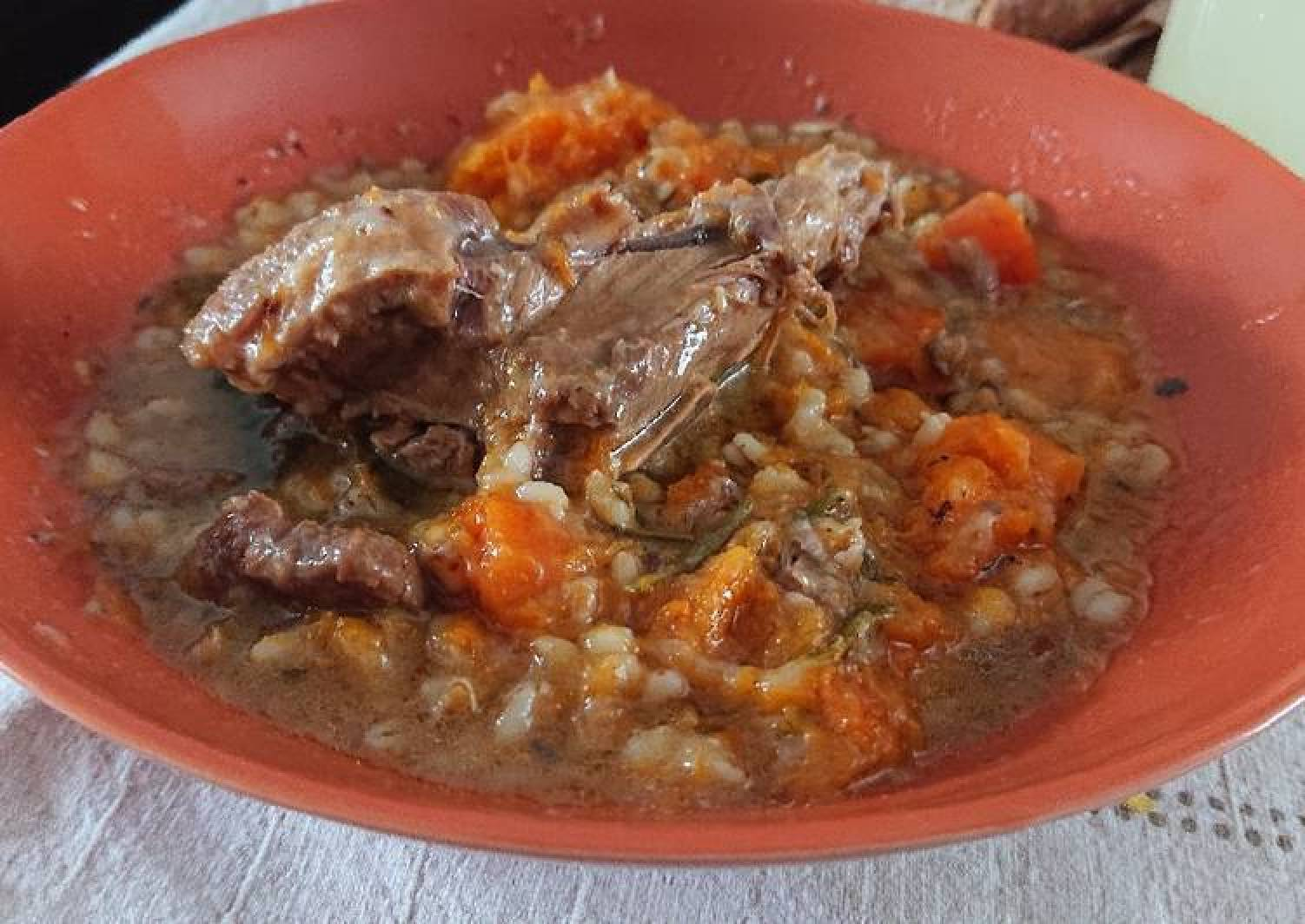 Pearl Barley And Lamb Stew
