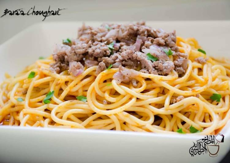 Steps to Make Perfect Spaghetti_Bolognese #Spaghetti_with_meat_and_tomatoe_sauce