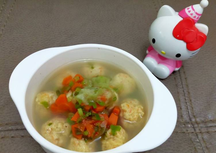 Bakso Ayam wortel - Makanan sehat untuk anak 1 tahun