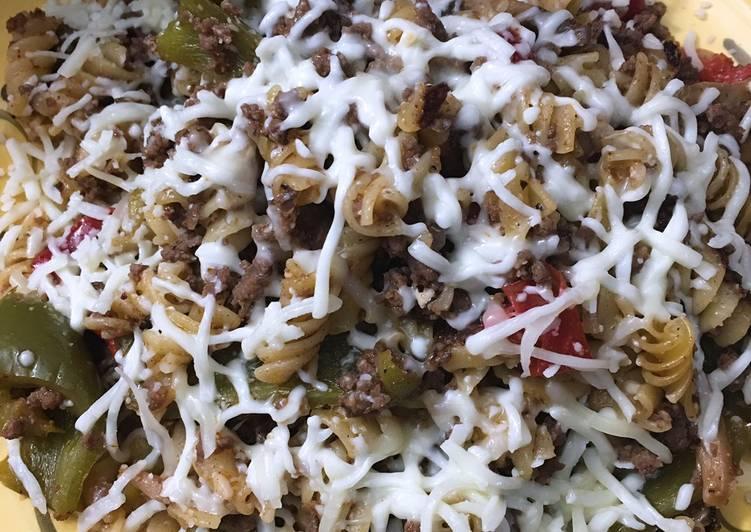 Instant pot philly cheesesteak pasta