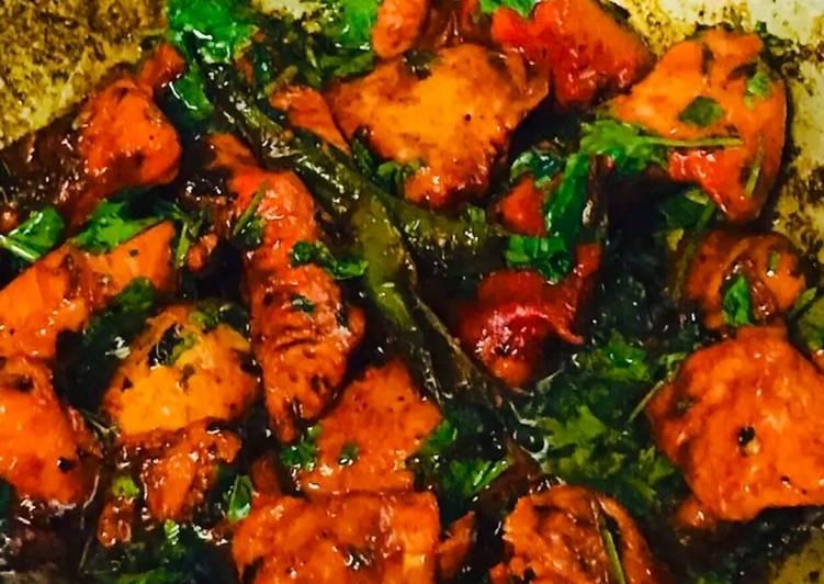 Instant Kadhai chicken recipe