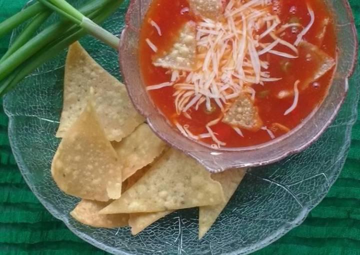 Vegetable tortilla soup