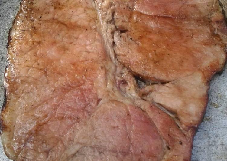 brown sugar coated ham