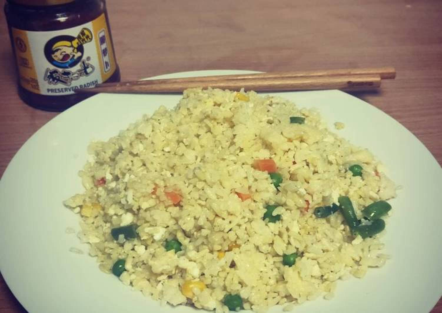 Golden Fried Rice(gold rimming silver)