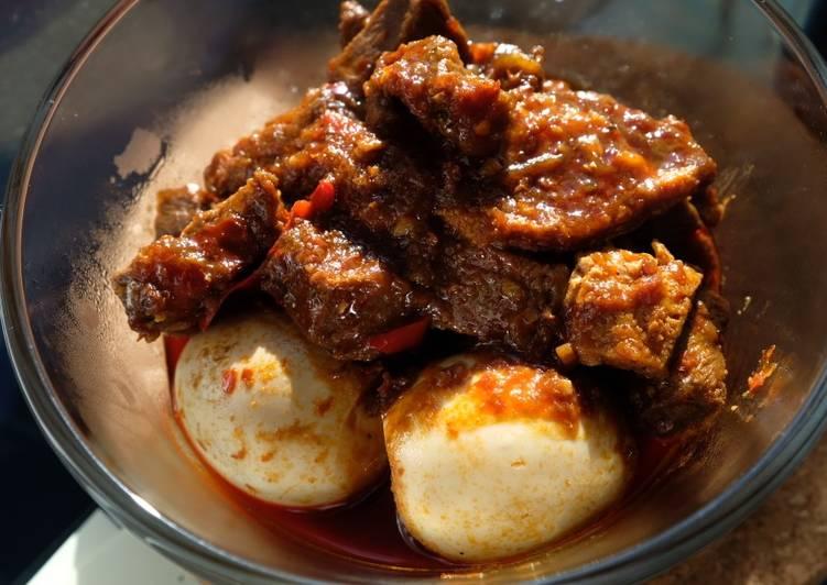 Balado Beef and Egg