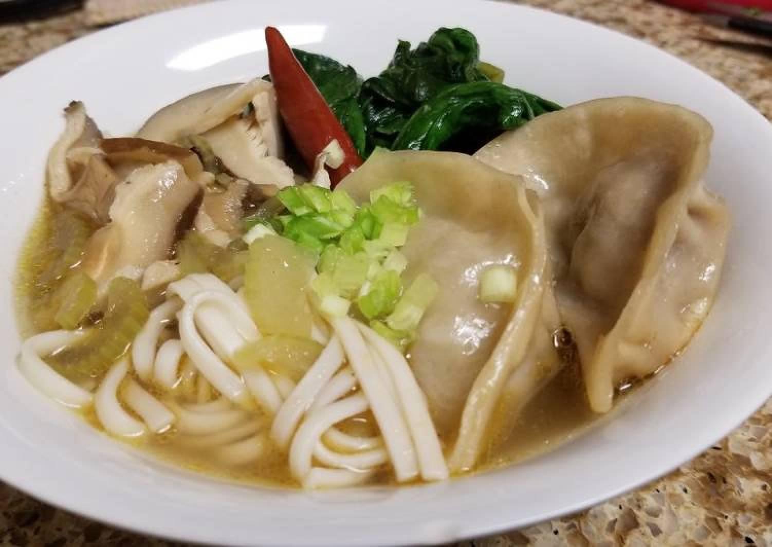 Gyoza Chicken Soup