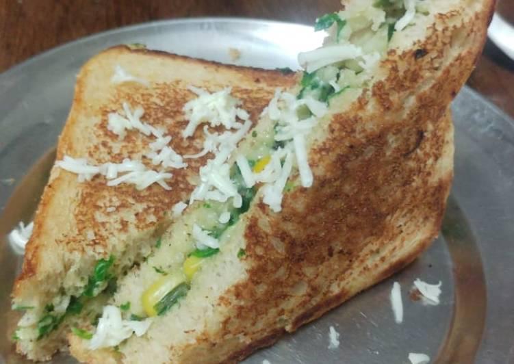 Recipe of Award-winning Spinach corn sandwich