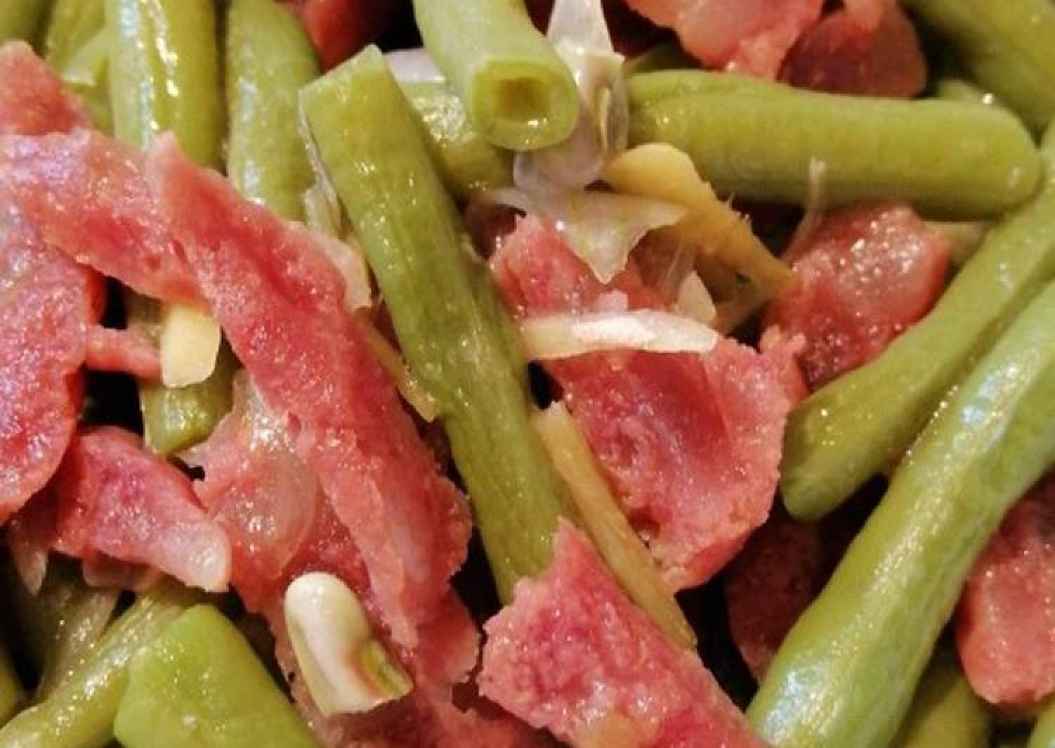 String beans w/ Chinese Sausage