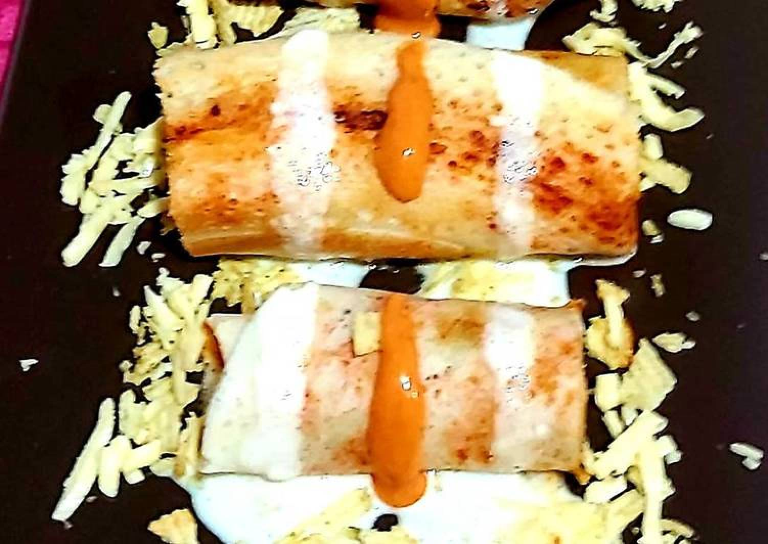 Cheese burst dosa rolls