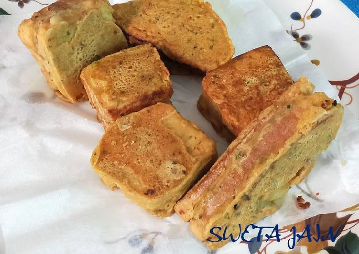 Mini Sandwich Pakoda(no deep fry)
