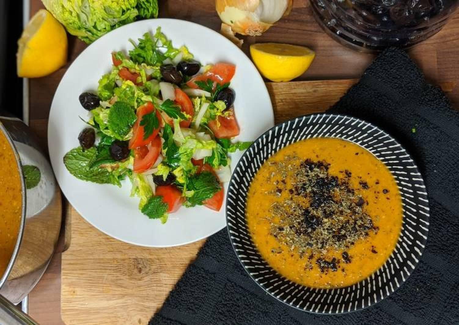 Easy East London Turkish lentil soup