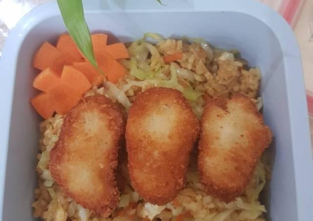 Nasi goreng sayuran simple buat bekel anak sekolah