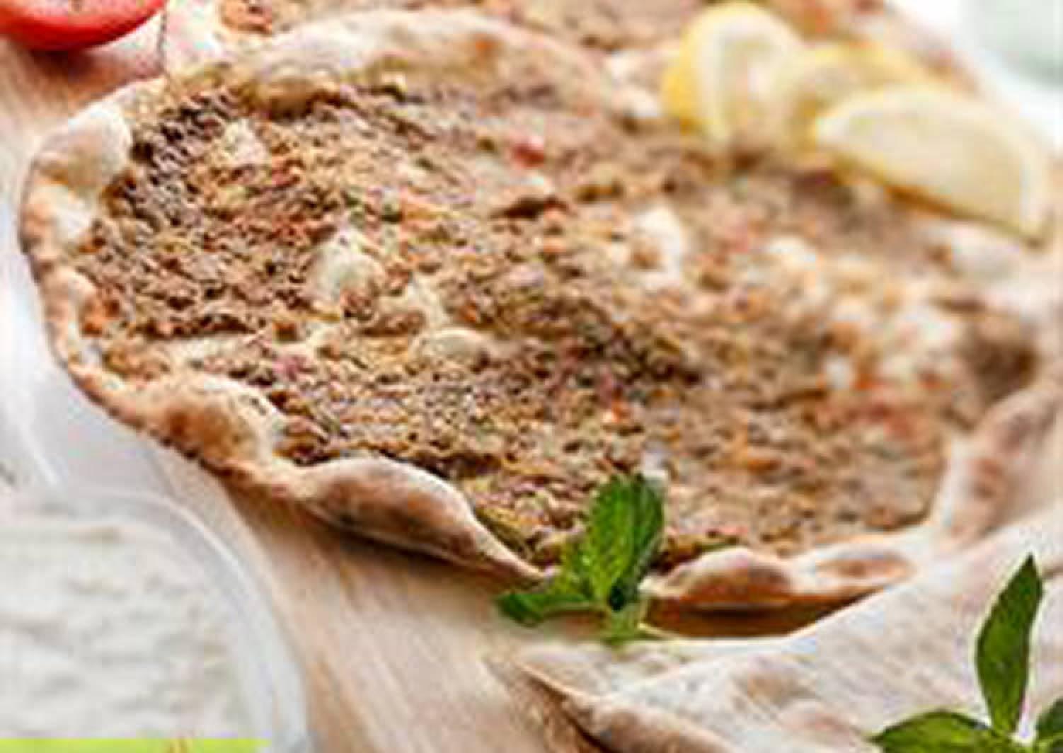 Open-faced meat pies - lahem bi ajeen