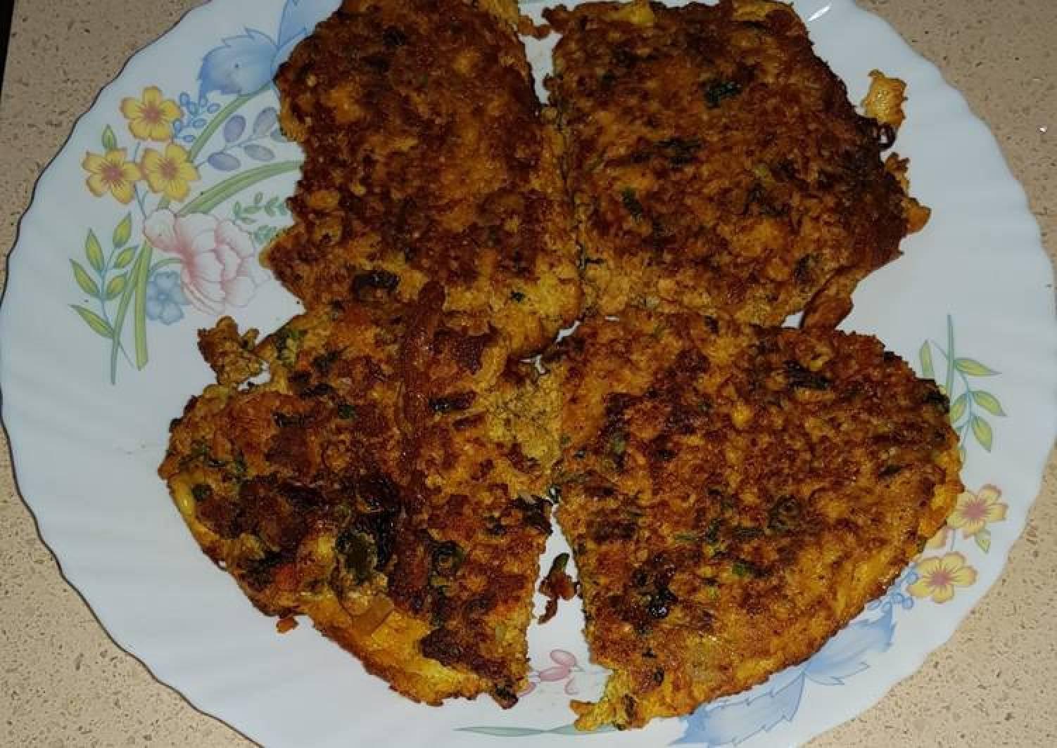 Fish roe (egg) omelette