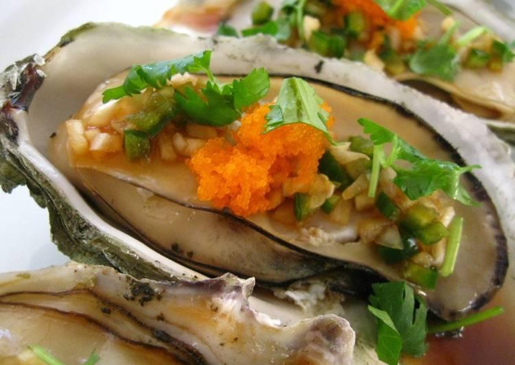 Oysters with Jalapeño Ponzu Shoyu