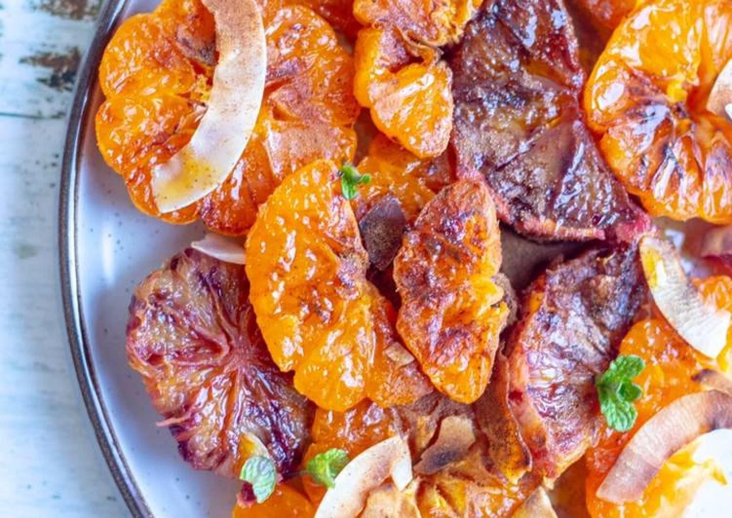 Caramelised oranges