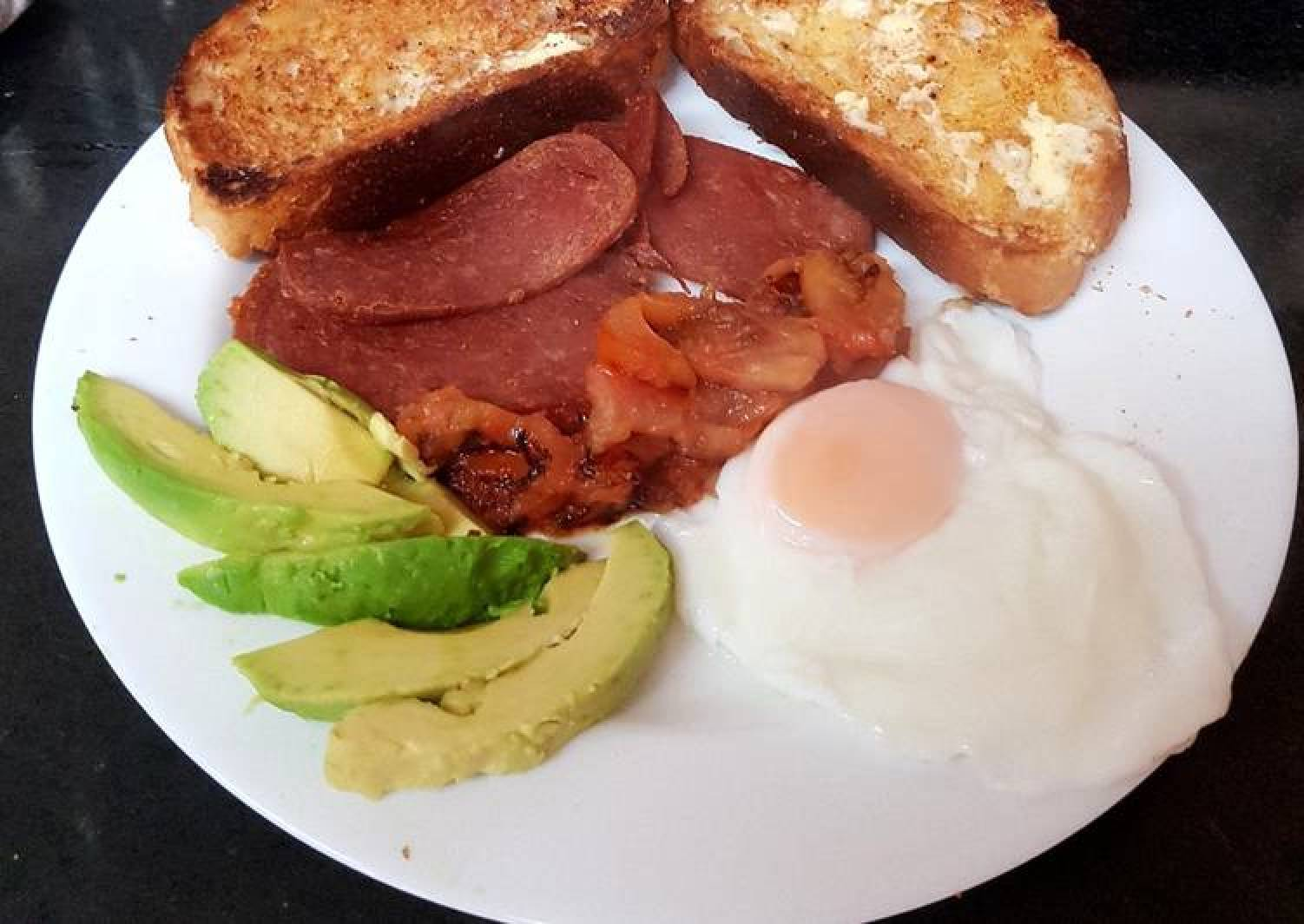 My Bacon Grill & Avocado Breakfast.😍