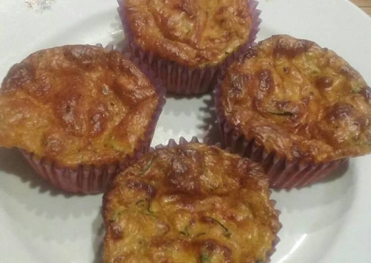 Salty zucchini muffins