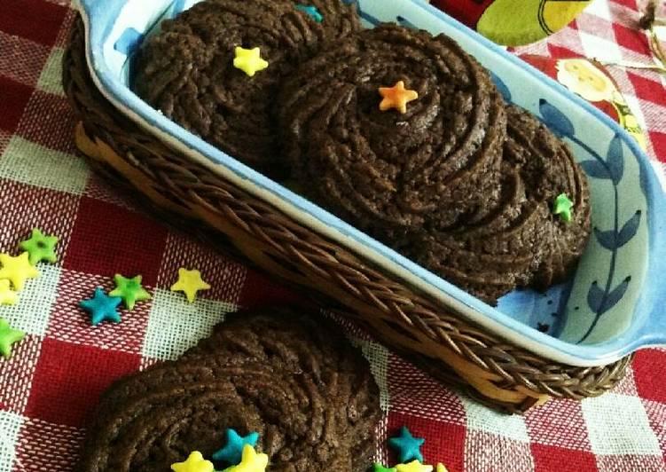 Eggless Nutella cookies