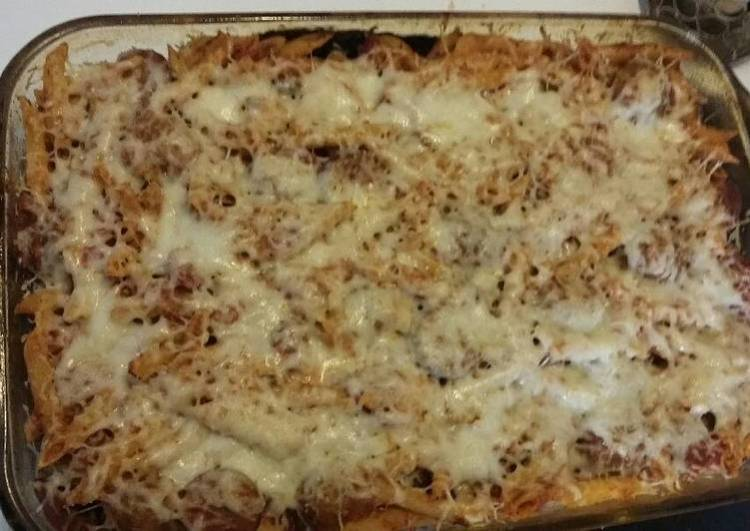 Baked Ziti with Meatballs and Sausage