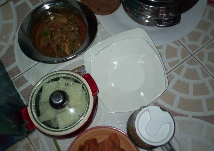 Kunun gyada white yam an chicken soup kosai #Ashlab# kitchen