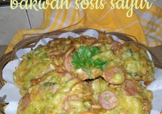 *bakwan sosis sayuran*