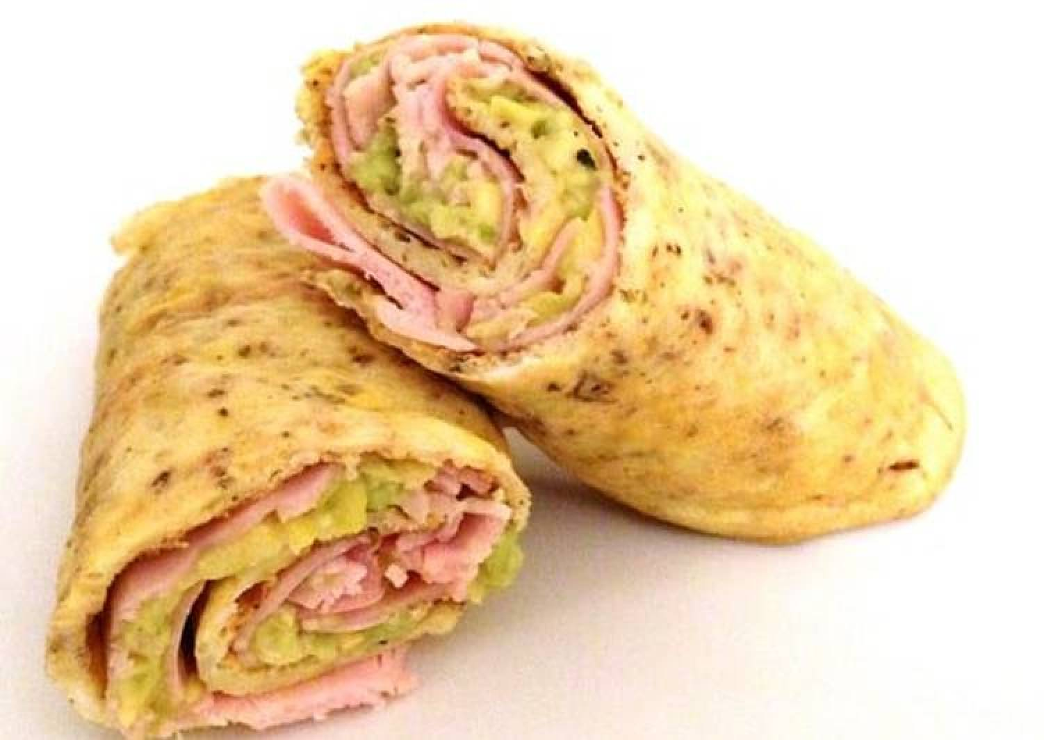 Egg and Proscuitto Wrap with Avocado