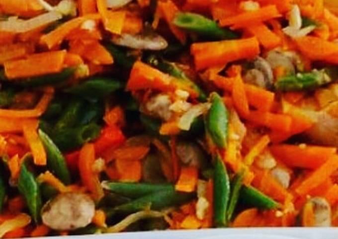Carrot and Green Bean stir Fry *Vegan