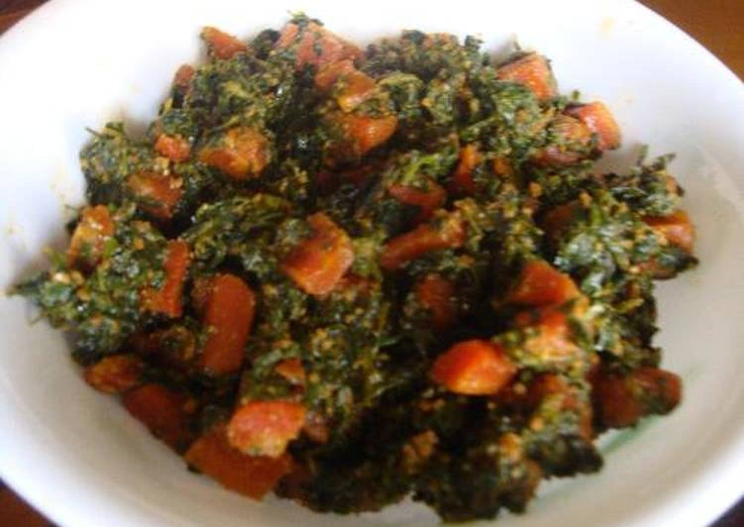 Fenugreek Leaves with Red Carrots