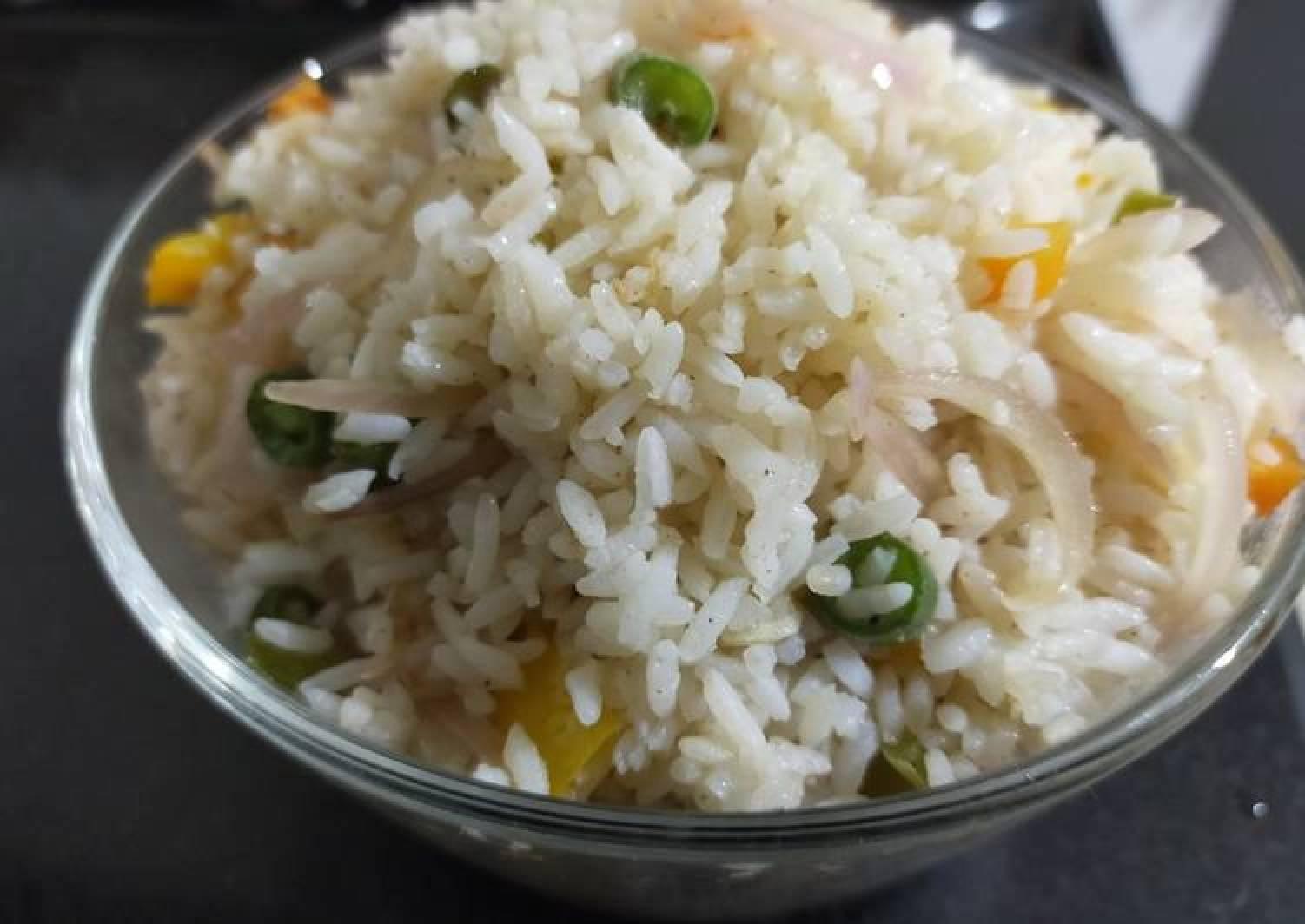 Vegetables Fried Rice No Soya sauce