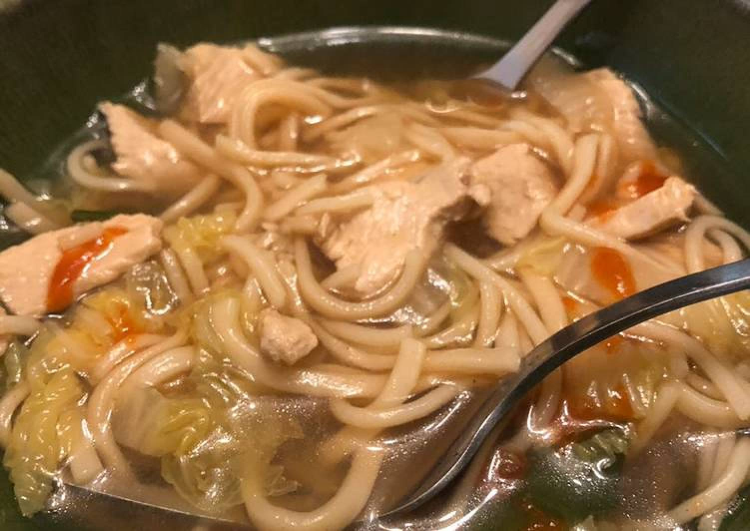 Super-soothing chicken noodle soup
