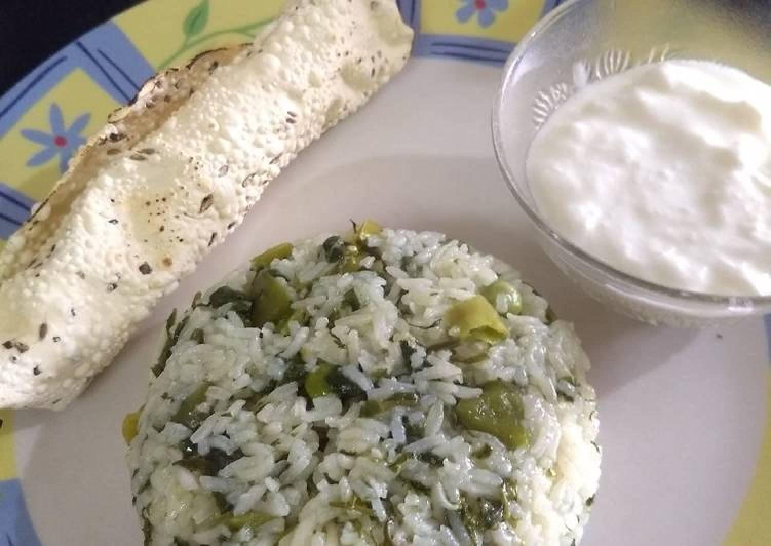 Methi peas rice