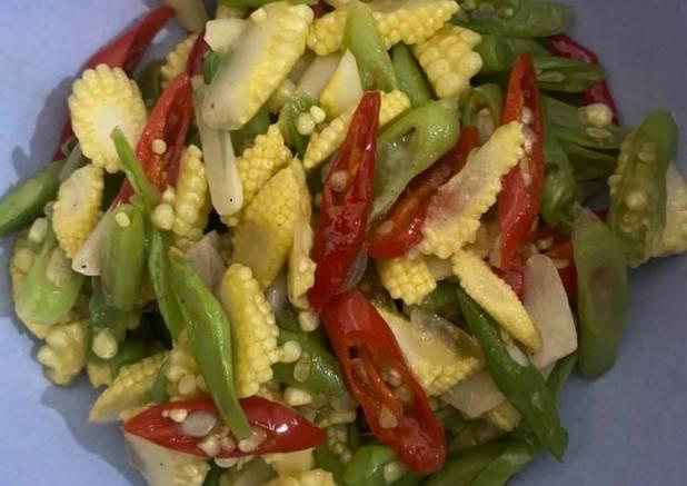 Oseng buncis & baby corn