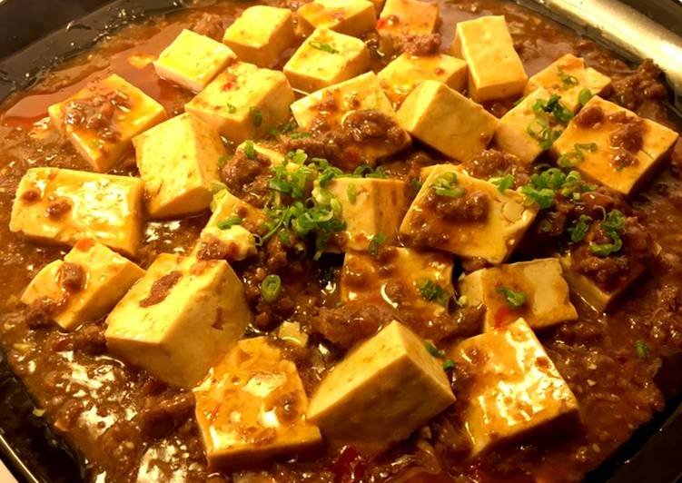 Mapo Tofu Braised silken tofu and ground beef with spicy sauce