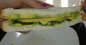 Avocado Basil and Cheese Sandwich or Snack