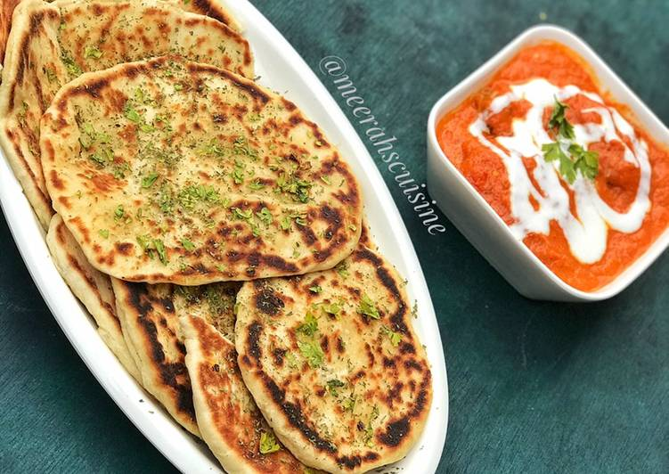 Naan bread and buttered chicken