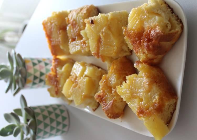 Gâteau renversé à l'ananas façon WW