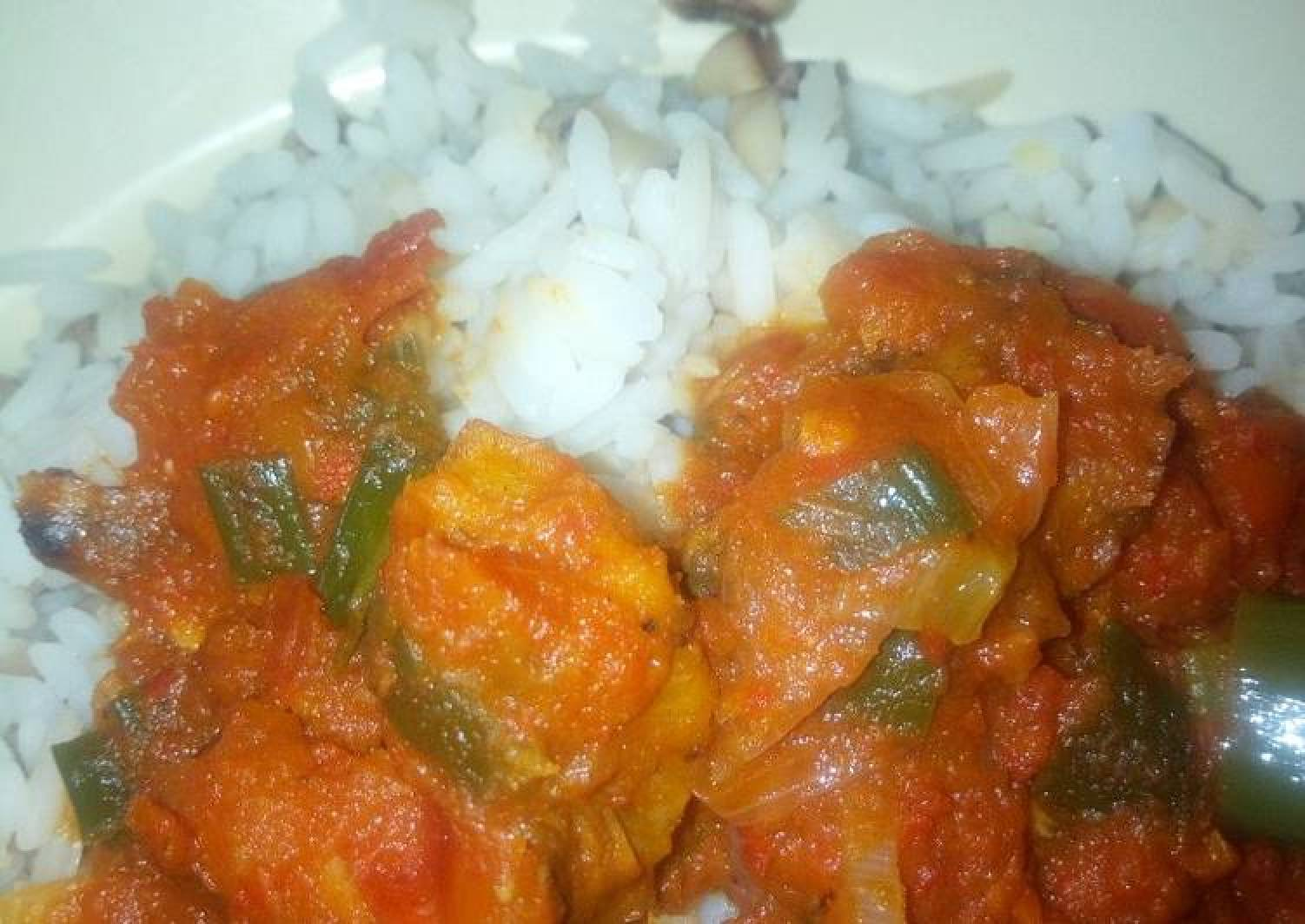 Rice and dried fish stew