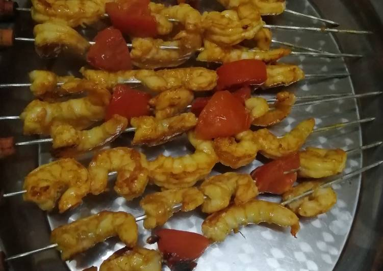 Grilled prawns :A delicacy for sea food lovers