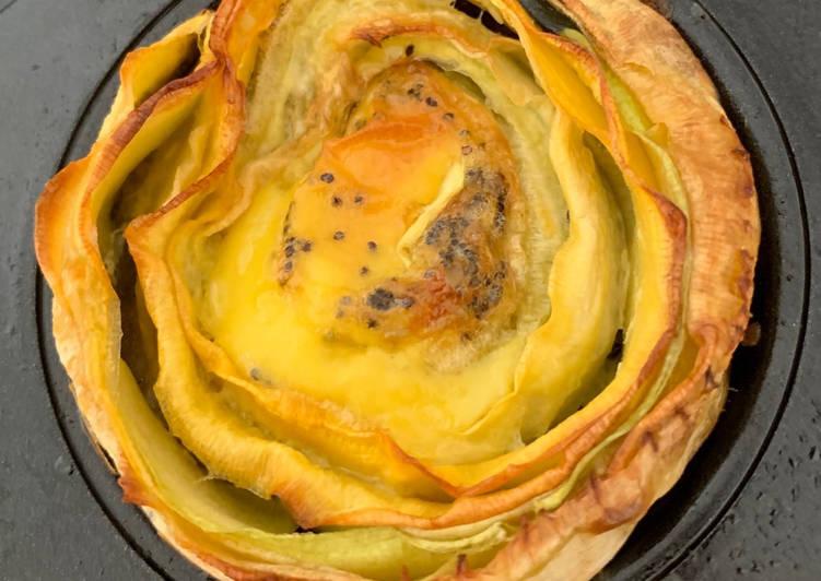 Tartelettes aux deux courgettes, citron et pavot bleu - sans gluten - sans lactose