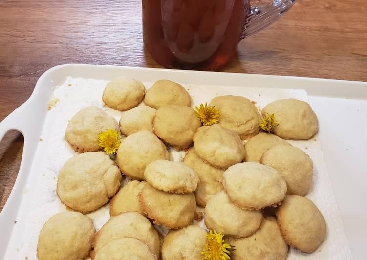 Dandelion Shortbread Cookies