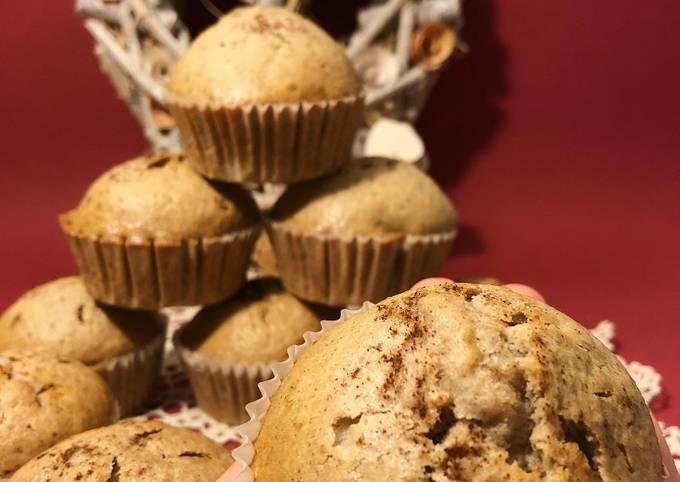 Schritte Um Superschnelle Hausgemachte Walnüsse-Zimt-Apfel Muffins zu machen
