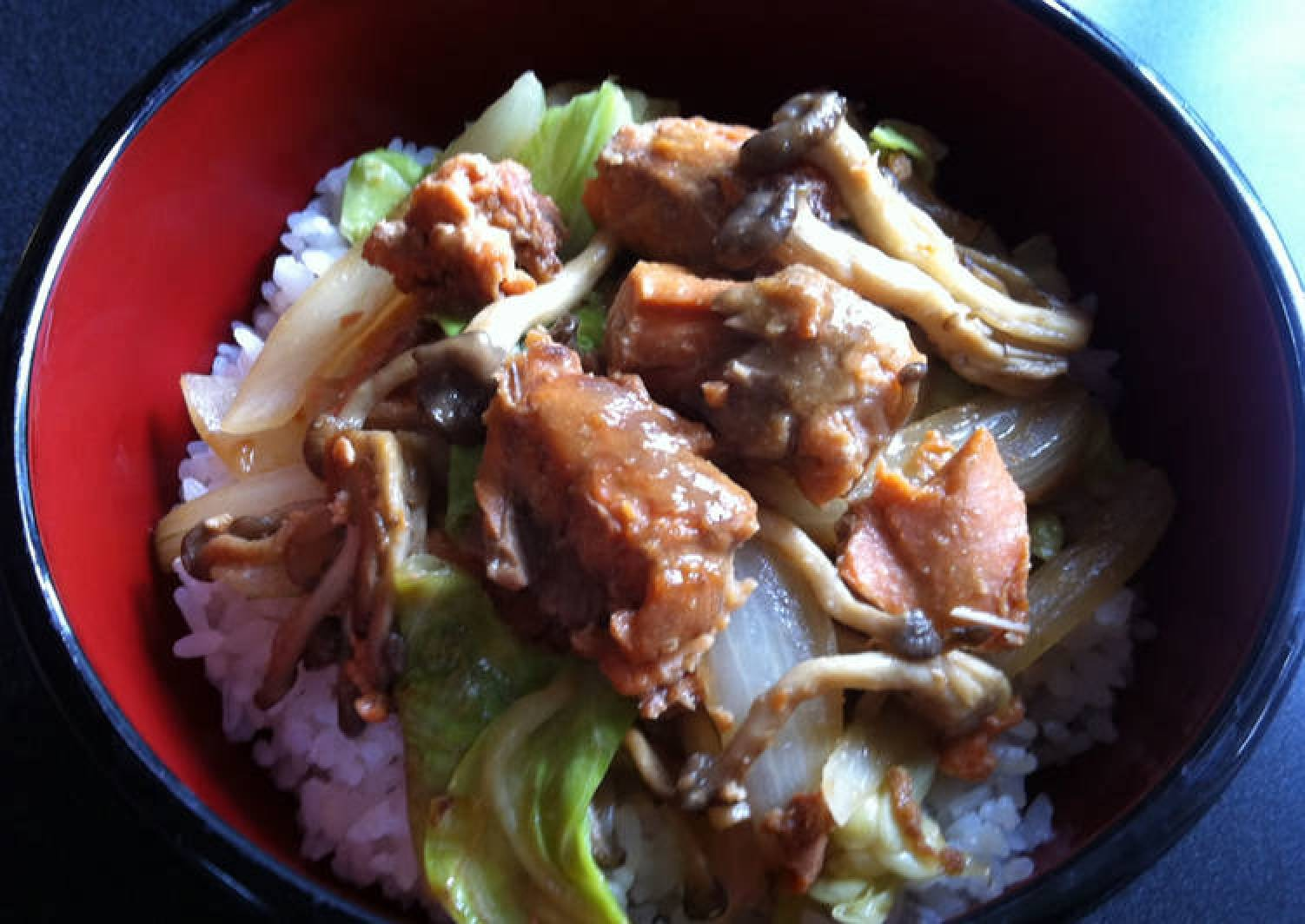 Canned Salmon Miso Don