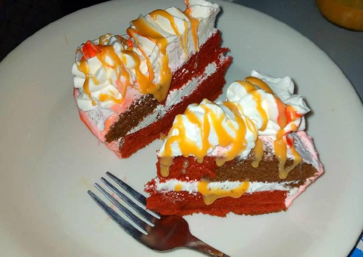 Red velvet and chocolate sponge cake