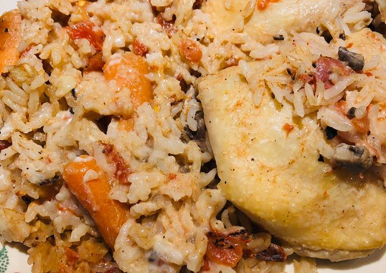 Steps to Make Perfect Chicken, Carrot and Rice Bake