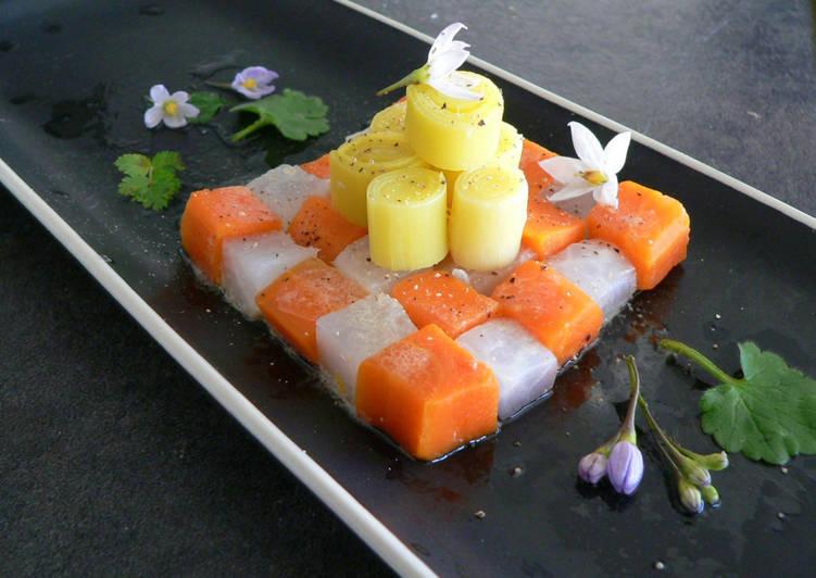 Légumes de pot au feu en salade