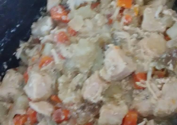"""Paleo Chicken Pot """"pie"""""""