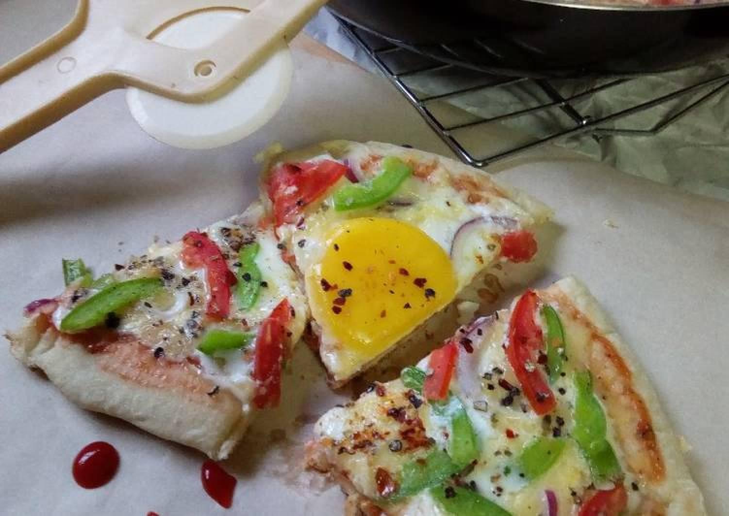 Egg Pan Pizza#worldwideeggs